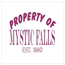 Property Of Mystic Falls Wall Art Framed Print