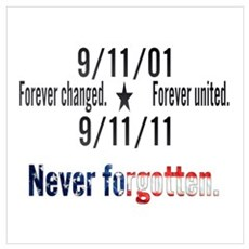 9-11 / United Never Forgotten Wall Art Framed Print