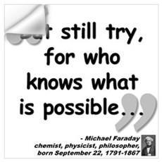 Faraday Try Quote Wall Art Wall Decal