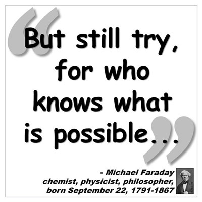 Faraday Try Quote Wall Art Canvas Art