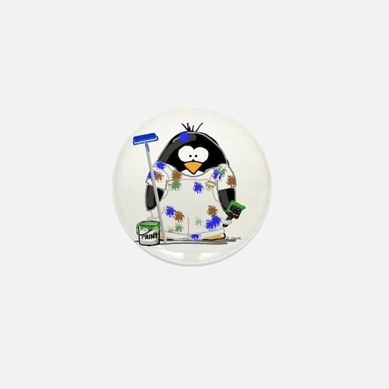 Painter Penguin Mini Button