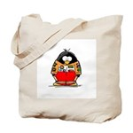 Auto Racing Penguin Tote Bag