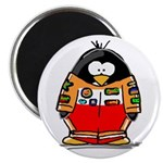 Auto Racing Penguin Magnet