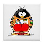 Auto Racing Penguin Tile Coaster