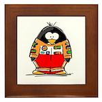 Auto Racing Penguin Framed Tile