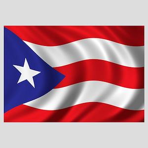 Flag of Puerto Rico Wall Art