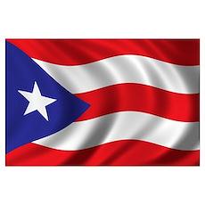 Flag of Puerto Rico Wall Art Poster
