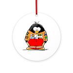 Auto Racing Penguin Ornament (Round)
