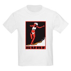 Surf Girl Kids T-Shirt