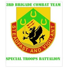 DUI - 3rd BCT - Special Troops Bn with Text Mini P Poster