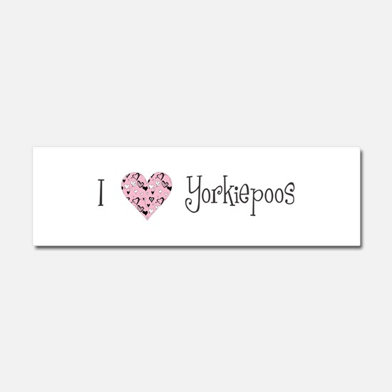 I Love Yorkiepoos Car Magnet 10 x 3