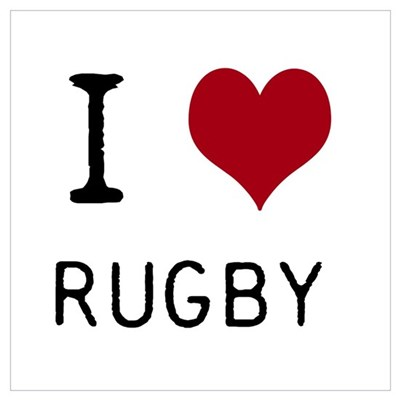 Rugby Wall Art Poster