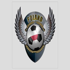 Polish soccer ball with crest Wall Art