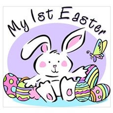 My 1st Easter Bunny Wall Art Poster