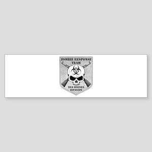 Zombie Response Team: Des Moines Division Sticker