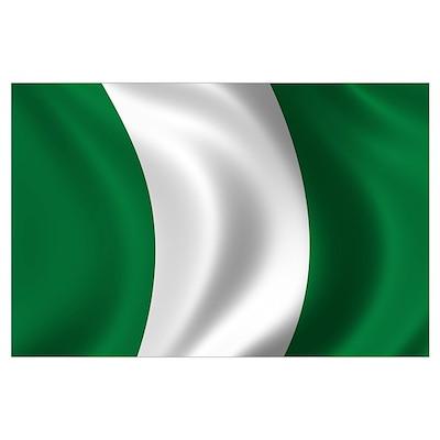 Flag of Nigeria Wall Art Poster