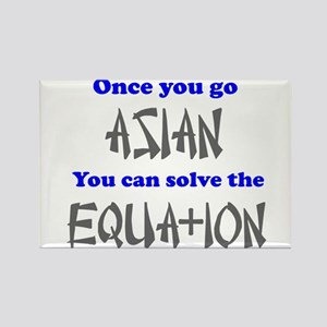 Once You Go Asian Equation Rectangle Magnet