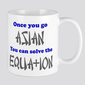 Once You Go Asian Equation Mug