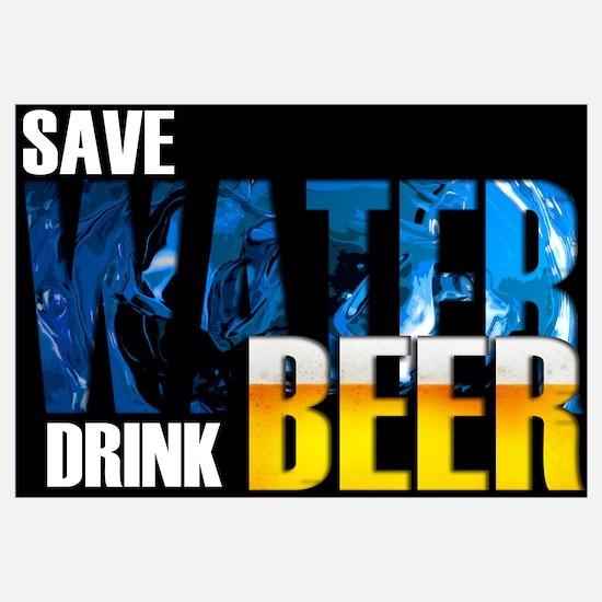 Save Water Drink Beer Wall Art