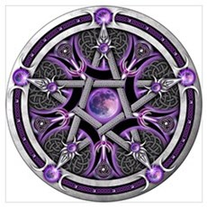 Pentacle of the Purple Moon Wall Art Poster