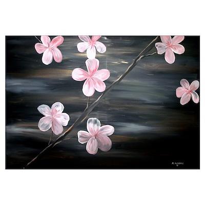 Cherry Blossom Wall Art Poster