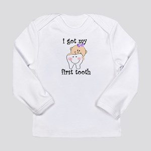 first tooth girl Long Sleeve T-Shirt