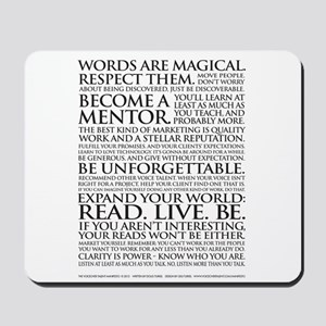 Voiceover Talent Manifesto Mousepad