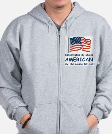Conservative By Choice Zip Hoodie