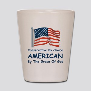 Conservative By Choice Shot Glass