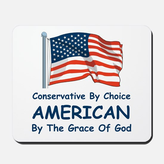 Conservative By Choice Mousepad