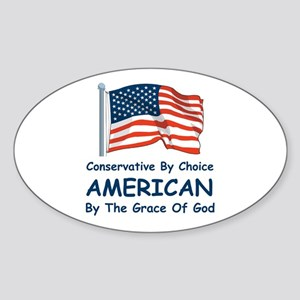 Conservative By Choice Sticker (Oval)