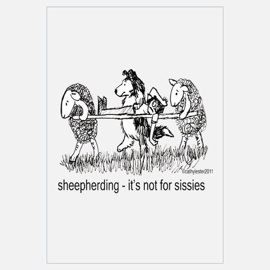 Sheepherding Sissie/Sheltie Wall Art