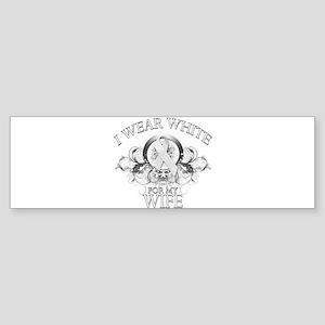 I Wear White for my Wife (flo Sticker (Bumper)