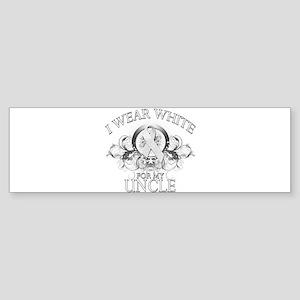 I Wear White for my Uncle (fl Sticker (Bumper)