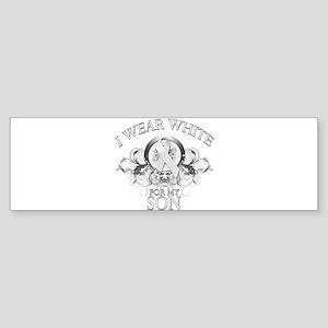 I Wear White for my Son (flor Sticker (Bumper)