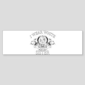 I Wear White for my Sister (f Sticker (Bumper)