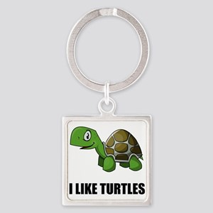 I Like Turtles Keychains