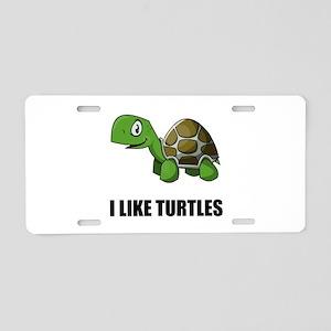 I Like Turtles Aluminum License Plate