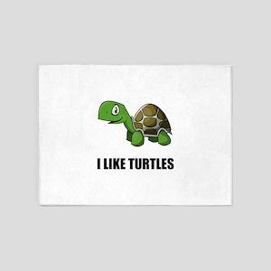 I Like Turtles 5'x7'Area Rug