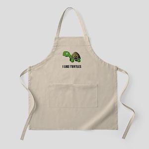 I Like Turtles Light Apron