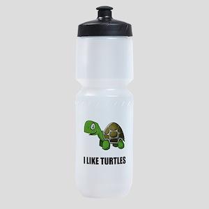 I Like Turtles Sports Bottle