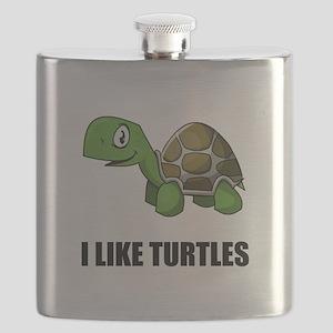 I Like Turtles Flask