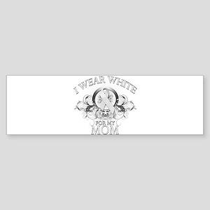 I Wear White for my Mom (flor Sticker (Bumper)