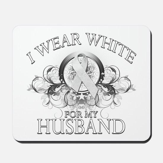 I Wear White for my Husband ( Mousepad