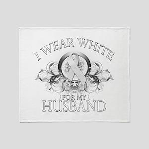 I Wear White for my Husband ( Throw Blanket