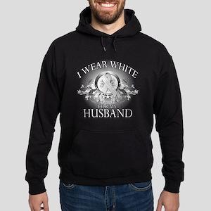 I Wear White for my Husband ( Hoodie (dark)