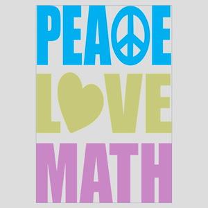 Peace Love Math Wall Art