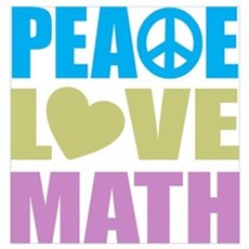 Peace Love Math Wall Art Poster