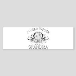 I Wear White for my Grandma ( Sticker (Bumper)