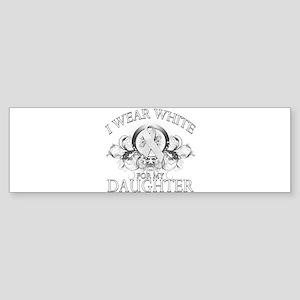 I Wear White for my Daughter Sticker (Bumper)